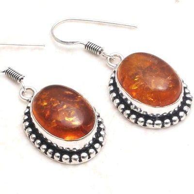 Amb 157c boucles oreilles 10x15mm 8gr ambre amber baltique achat vente bijoux argent 925
