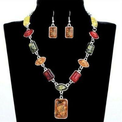 Amb 160b collier pendant boucles oreilles 30gr ambre amber baltique achat vente bijoux argent 925