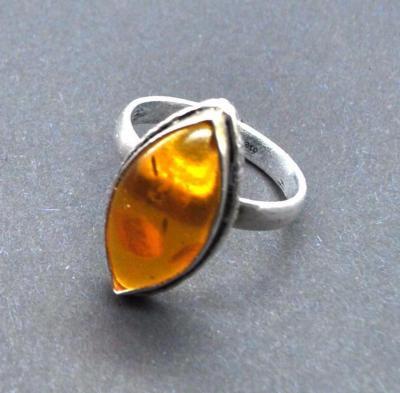 Amb 165a bague ambre argent ancienne t55 4gr achat vente bijoux