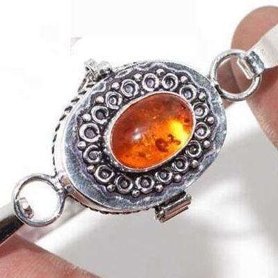 Amb 194b bracelet poison 18gr 10x15mm ambre amber baltique achat vente bijoux argent 925