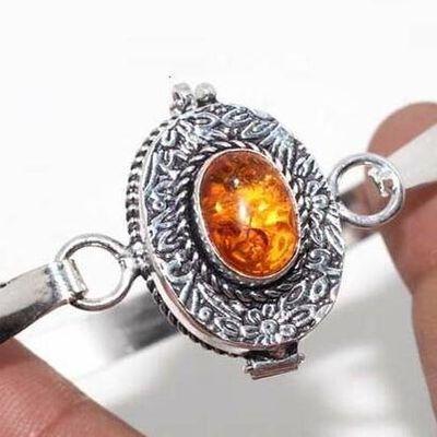 Amb 197c bracelet poison 18gr 10x15mm ambre amber baltique achat vente bijoux argent 925