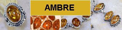 Bijoux en argent 925 avec AMBRE de la BALTIQUE - achat et  vente - bagues, colliers, bracelets, parures, boucles oreilles, pende