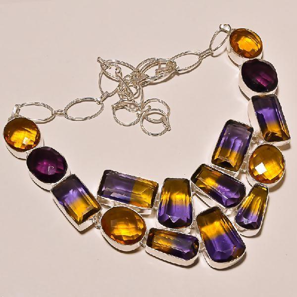 Ame 119a collier ametrine ag925 1