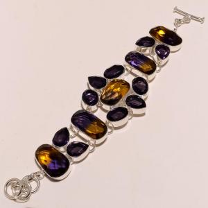 Ame 126a bracelet ametrine ag925