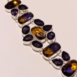 Ame 126b bracelet ametrine ag925