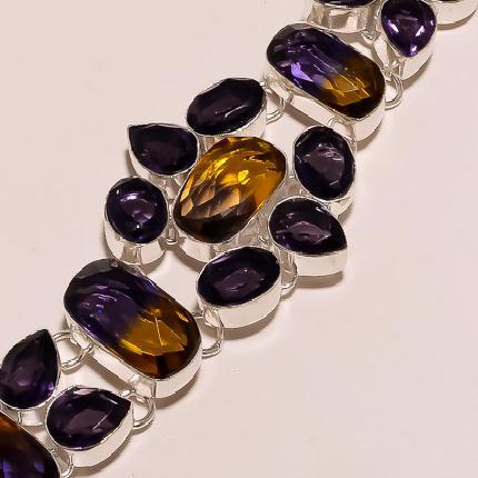 Ame 126c bracelet ametrine ag925