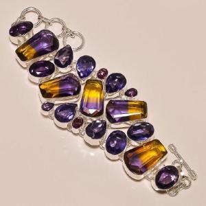 Ame 154a bracelet ametrine amethyste ag925
