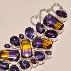 Ame 154b bracelet ametrine amethyste ag925