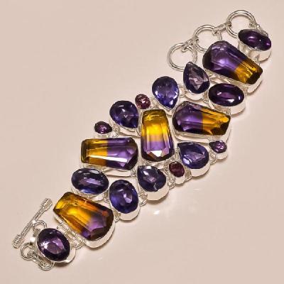 Ame 154d bracelet ametrine amethyste ag925