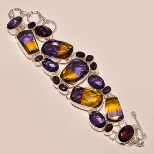 Ame 158a bracelet ametrine amethyste ag925