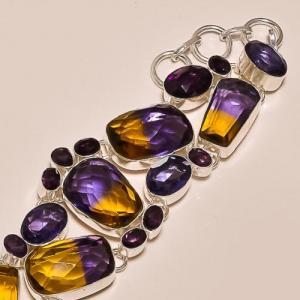Ame 158b bracelet ametrine amethyste ag925
