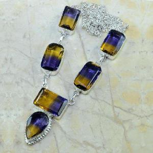 Ame 342a collier parure sautoir ametrine achat vente bijou argent 925