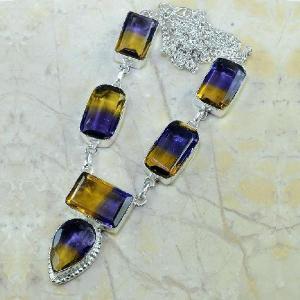 Ame 342a collier parure sautoir ametrine achat vente bijou argent 926
