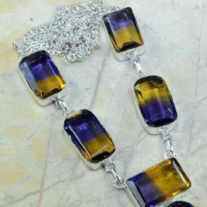 Ame 342b collier parure sautoir ametrine achat vente bijou argent 925