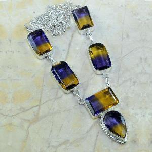 Ame 342c collier parure sautoir ametrine achat vente bijou argent 925