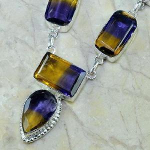 Ame 342d collier parure sautoir ametrine achat vente bijou argent 925