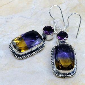 Ame 346b boucles pendants oreilles ametrine amethyste achat vente bijou argent 925