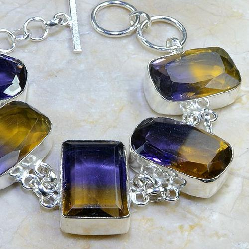 Ame 348b bracelet ametrine achat vente bijou argent 925