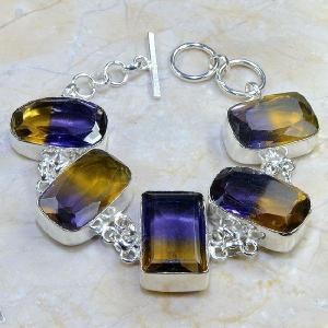 Ame 348c bracelet ametrine achat vente bijou argent 925