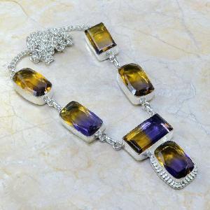 Ame 354a collier parure sautoir ametrine achat vente bijou argent 925