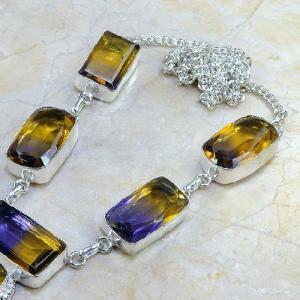 Ame 354b collier parure sautoir ametrine achat vente bijou argent 925