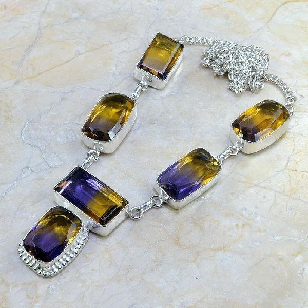 Ame 354d collier parure sautoir ametrine achat vente bijou argent 926