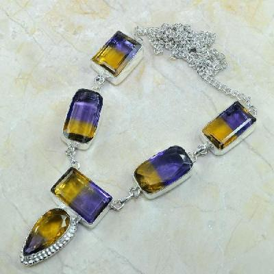 Ame 355a collier parure sautoir ametrine achat vente bijou argent 926