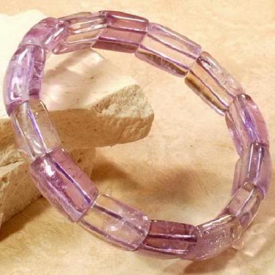 AME-404 - Délicat BRACELET - 13 AMETRINES de Bolivie polies roulées - 139 carats - 27,8,5 g
