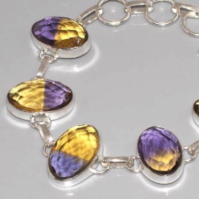 Ame 412b bracelet ametrine amethyste achat vente bijou