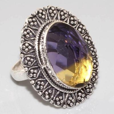 Ame 415a bague t63 ametrine achat vente bijou argent 925