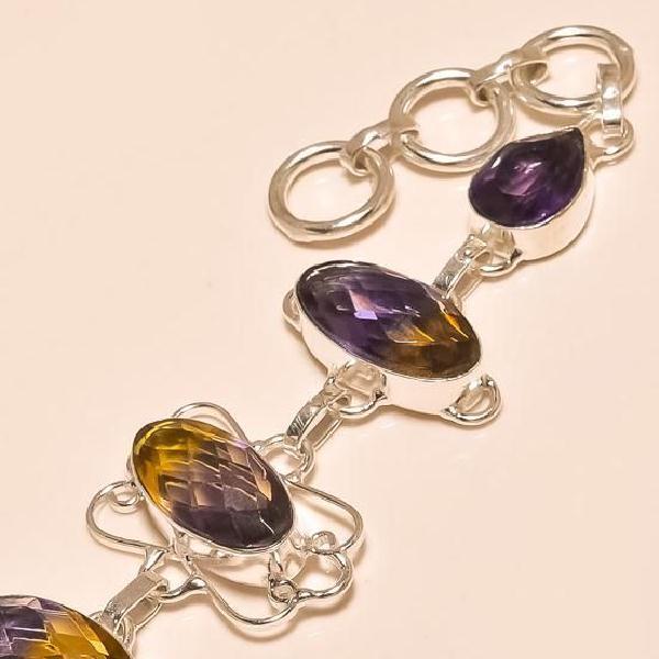 Ame 427b bracelet ametrine amethyste achat vente bijou argent 925