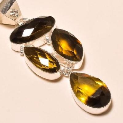 Ame 440c pendentif lemontrine ametrine pierre taillee achat vente bijou argent 925