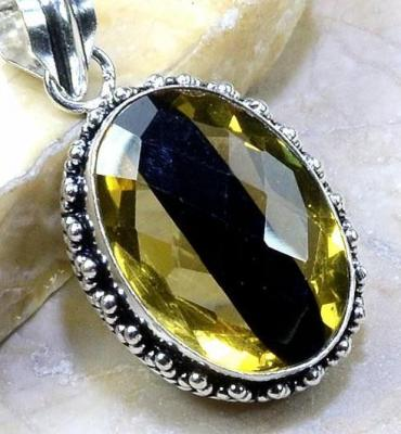 Ame 451c pendentif lemontrine ametrine pierre taillee achat vente bijou argent 925