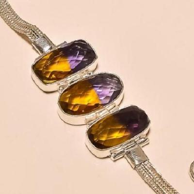 Ame 455c bracelet ametrine achat vente bijou argent 925
