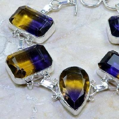 Ame 463b bracelet ametrine achat vente bijou argent 925