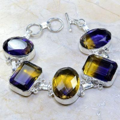 Ame 467a bracelet ametrine achat vente bijou argent 925