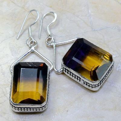 Ame 471a boucles pendants oreilles ametrine achat vente bijou argent 925