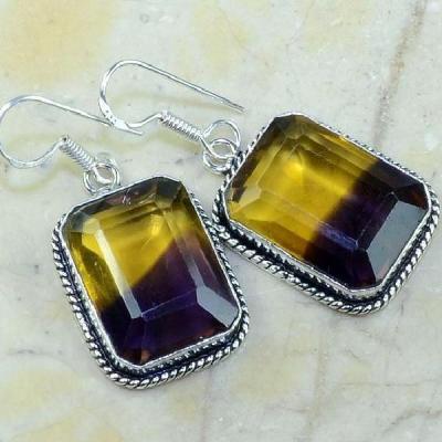 Ame 472a boucles pendants oreilles ametrine achat vente bijou argent 925