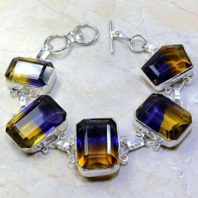 Ame 490a bracelet ametrine achat vente bijou argent 925