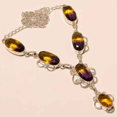 Ame 494a collier parure sautoir ametrine citrine achat vente bijou argent 925