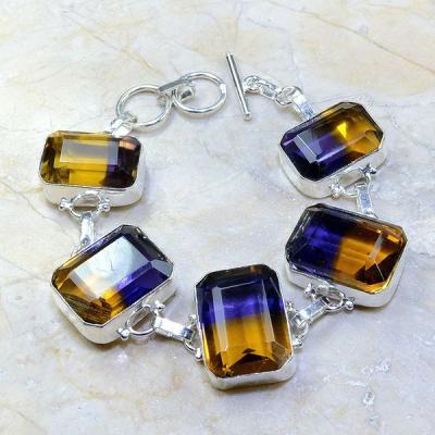 Ame 512a bracelet ametrine achat vente bijou argent 925
