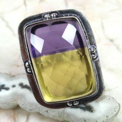 Ame 517a bague t57 ametrine achat vente bijou argent 925