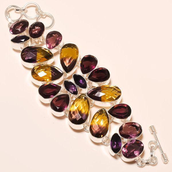 Ame 527a bracelet ametrine amethyste achat vente bijou monture argent 925