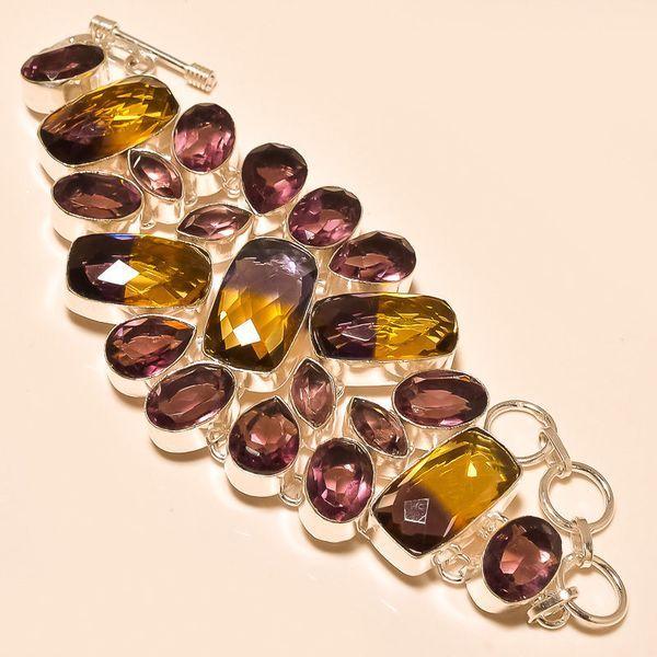 Ame 535a bracelet ametrine amethyste achat vente bijou monture argent 925