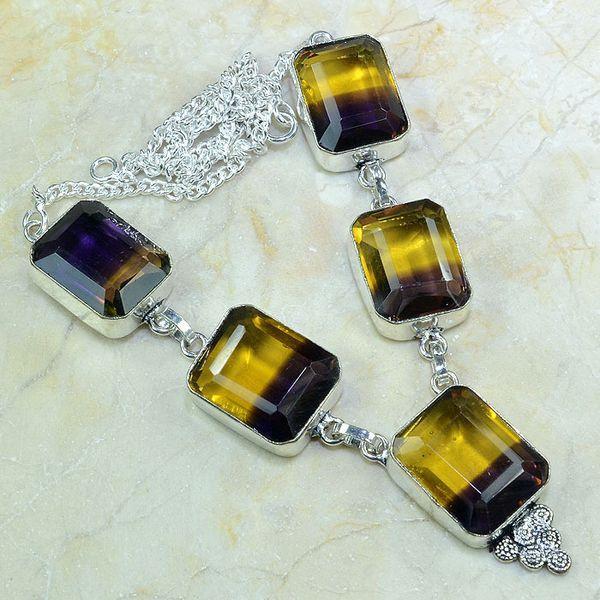 Ame 546a collier parure sautoir ametrine achat vente bijou argent 925
