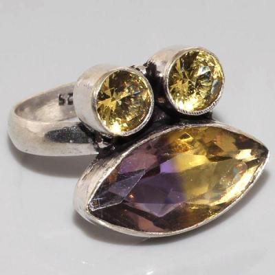Ame 551a bague t54 ametrine citrine achat vente bijou monture argent 925