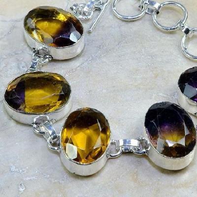 Ame 556b bracelet ametrine achat vente bijou monture argent 925