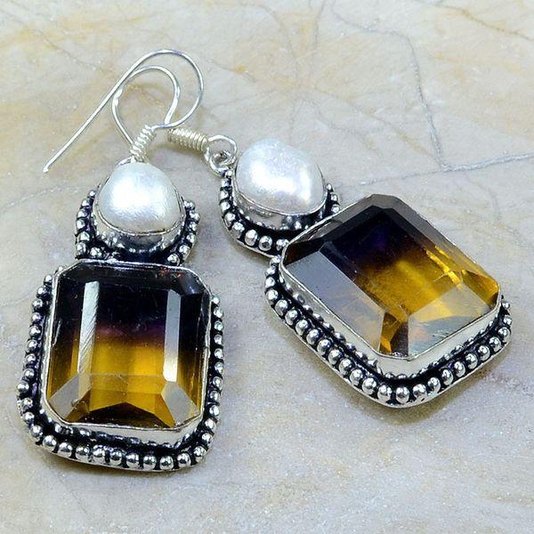 Ame 558a boucles pendants oreilles ametrine achat vente bijou argent 925