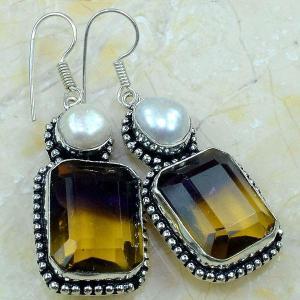 Ame 558b boucles pendants oreilles ametrine achat vente bijou argent 925