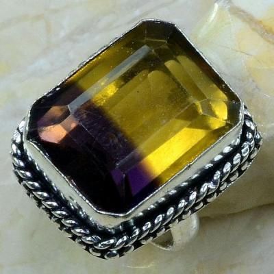 Ame 564a bague t60 ametrine citrine amethyste achat vente bijou monture argent 925